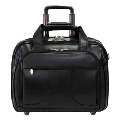 Chicago, Top Grain Cowhide Leather, 15 in. Detachable Laptop Overnight with Removable Briefcase