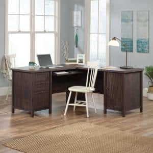 Costa Coffee Oak L-Shaped Desk