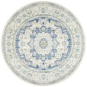 Verona Vintage Persian Blue 5 ft. Round Rug