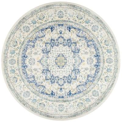 Verona Vintage Persian Blue 8 ft. Round Rug