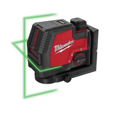 100 ft. REDLITHIUM Lithium-Ion USB Green Rechargeable Cross Line Laser Level with Charger