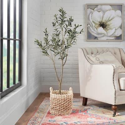 4.17 ft. Indoor Artificial Olive Tree