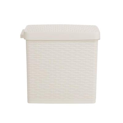 1.58 Gal. Plastic Rectangular Step-On Bathroom Garbage Bin Trash Can Wastebasket with Lid