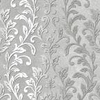Striped Damask Vinyl Prepasted Wallpaper (Covers 56 sq. ft.)