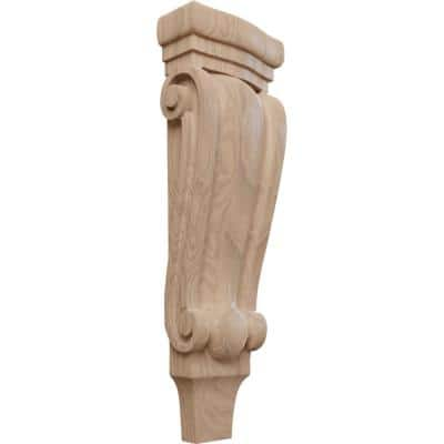 2-3/8 in. x 5-1/8 in. x 15-1/2 in. Unfinished Wood Mahogany Medium Traditional Pilaster Corbel