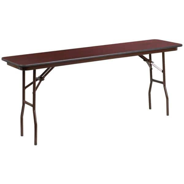 72 In Mahogany Wood Table Top Material Folding Banquet Tables Cga Yt 21753 Ma Hd The Home Depot
