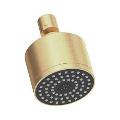 1-Spray 3 in. Single Wall Mount Fixed Shower Head in Brushed Bronze