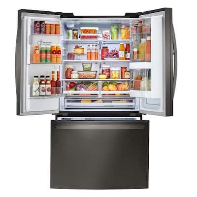 26 cu. ft. 3-Door Smart French Door Refrigerator with InstaView Door-in-Door in Black Stainless Steel