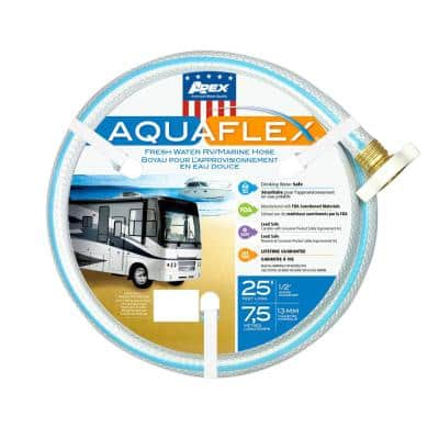 5/8 in. x 25 ft. White AquaFlex RV/Marine Hose