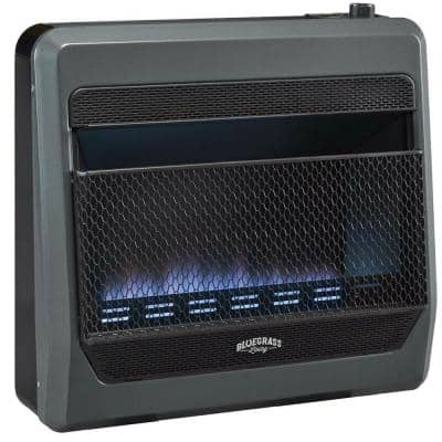 Bluegrass Living Propane Gas Vent Free Blue Flame Gas Space Heater With Blower and Base Feet - 30,000 BTU