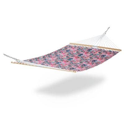 Vera Bradley 78 in. L x 51 in. W Quilted Hammock in Rain Forest Canopy Coral