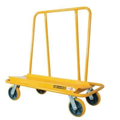 Buildman Welded Steel Heavy Duty Dolly Cart for Moving Sheetrock, Drywall, or Plywood Sheets, 3000 lbs. Load Capacity