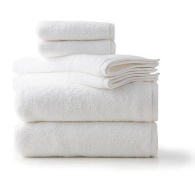 6-Piece White LuxuryCotton Towel Set