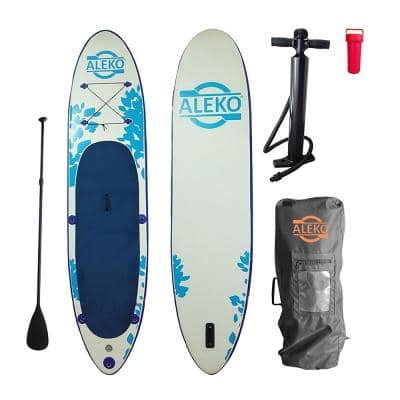 10.5 ft. White Inflatable Paddle Board with Carry Bag