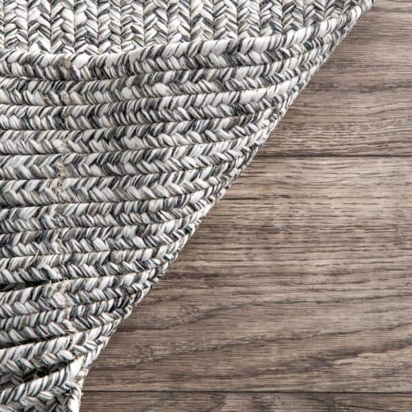 Nuloom Courtney Braided Black And White 9 Ft X 12 Ft Indoor Outdoor Area Rug Hjfv11a 860116 The Home Depot
