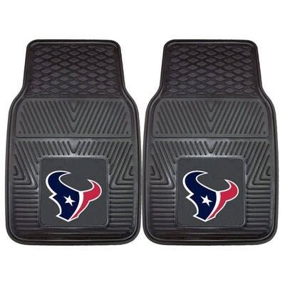 Houston Texans 18 in. x 27 in. 2-Piece Heavy Duty Vinyl Car Mat