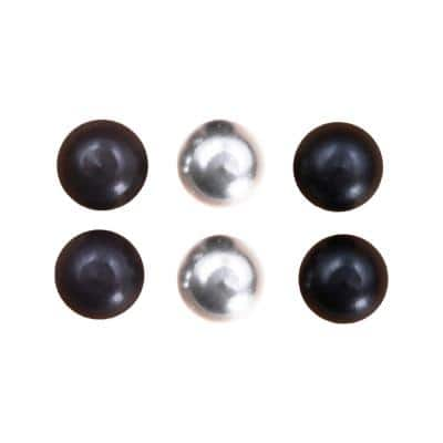 3/8 in. Assorted Finish Lamp Cap Nuts (6-Pack) in Matte Black, Oil Rubbed Bronze and Chrome