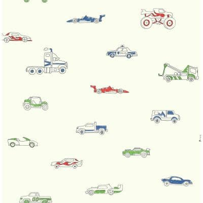 Traffic Jam Paper Strippable Roll (Covers 56 sq. ft.)