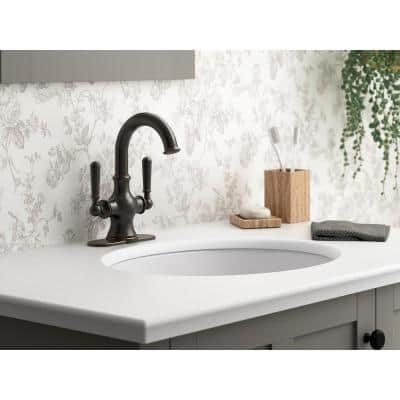 Capilano Monoblock 2-Handle Single Hole 4 in. Centerset Bathroom Faucet in Oil-Rubbed Bronze