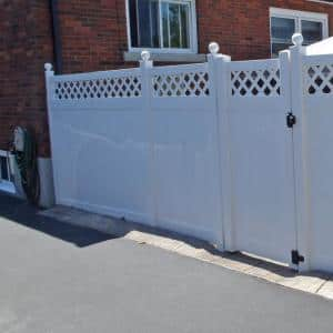 5 in. x 5 in. x 8 ft. White Vinyl Fence Gate End Post