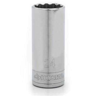 1/2 in. Drive 24 mm 12-Point Metric Standard Socket