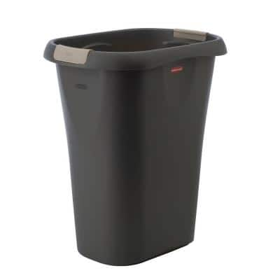 8 Gal. Black Rectangular Trash Can with LinerLock