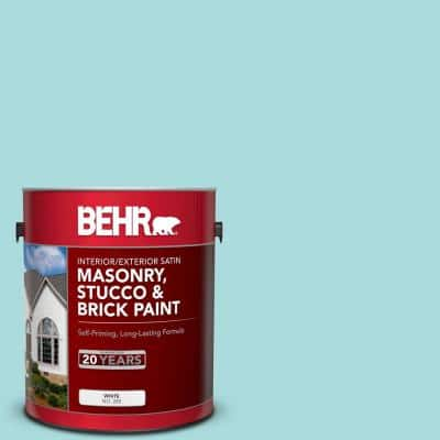1 gal. #M460-2 Beachside Drive Satin Interior/Exterior Masonry, Stucco and Brick Paint