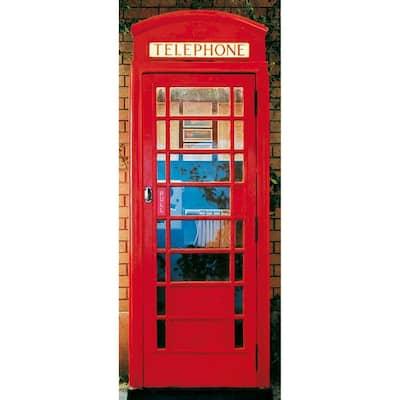 79 in. x 34 in. Telephone Box Wall Mural