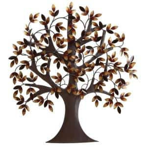 32 in. x 31 in. Brown Metal Traditional Wall Decor
