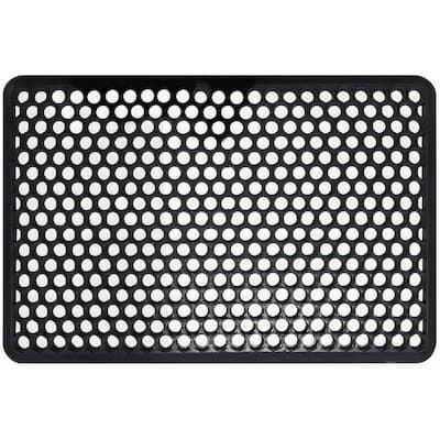 22 in. x 34 in. Indoor/Outdoor Recycled Black Rubber Floor Mat