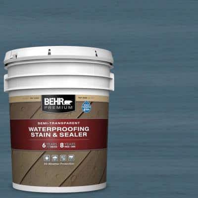 5 gal. #ST-107 Wedgewood Semi-Transparent Waterproofing Exterior Wood Stain and Sealer