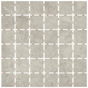 Portland Stone Gray 12 in. x 12 in. x 6.35 mm Ceramic Mosaic Floor and Wall Tile (1 sq. ft./Each)