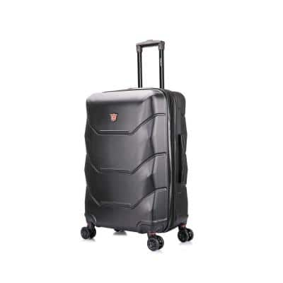 Zonix 26 in. Black Lightweight Hardside Spinner Suitcase