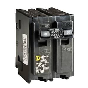 Homeline 20 Amp 2-Pole Circuit Breaker (6-pack)