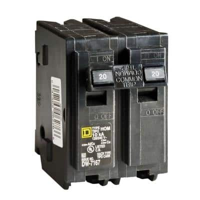 Homeline 20 Amp 2-Pole Circuit Breaker (6-pack)
