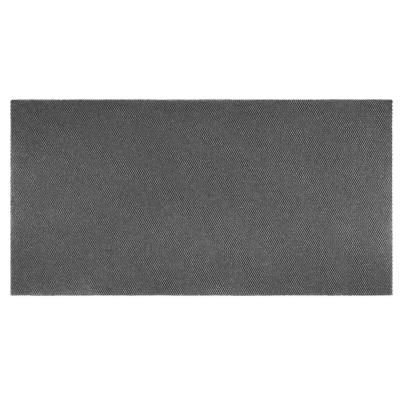Recycled Rugged All-Weather Textile 3 ft. x 10 ft. Grey Entry and Garage Mat
