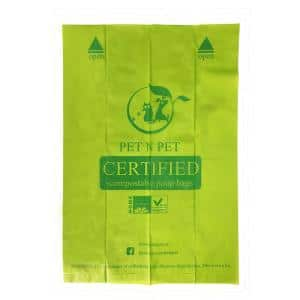 Green Biodegradable Compostable Dog Waste Bags 16 Rolls Meet ASTM D6400 Certified (240 Count)