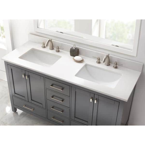 Home Decorators Collection 73 In W X, White Trough Sink Bathroom Vanity