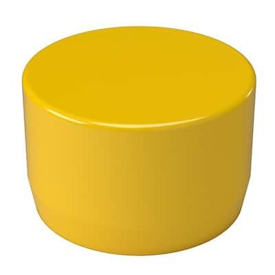 1-1/4 in. Furniture Grade PVC External Flat End Cap in Yellow (10-Pack)