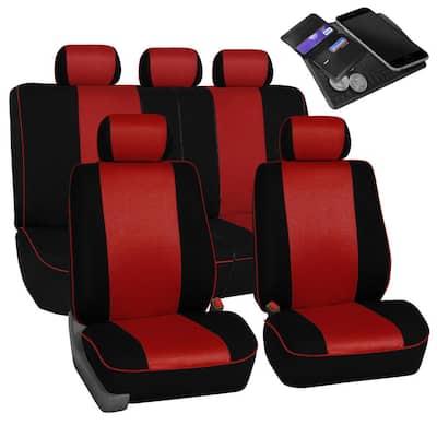 Cloth 47 in. x 23 in. x 1 in. Full Set Car Seat Covers