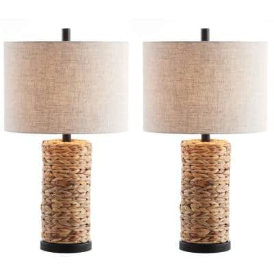 Elicia 25 in. Natural Sea Grass LED Table Lamp (Set of 2)
