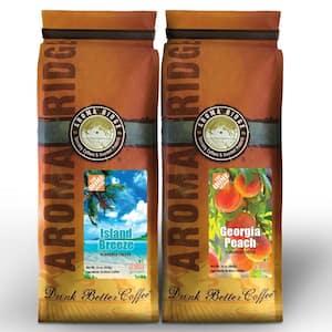 Flavored Coffee, Georgia Peach and Island Breeze, 2lbs