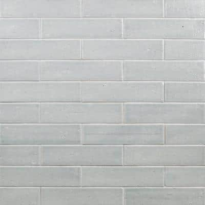 Rhythmic Wales Gray 2 in. x 9 in. 12mm Glazed Clay Subway Tile (30-piece 4.63 sq. ft. / box)