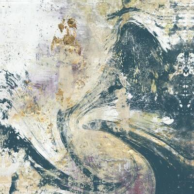 "72 in. x 72 in. ""Teal Aerial"" by Jennifer Goldberger Wall Art"
