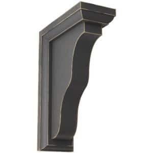 2-1/4 in. x 7 in. x 5 in. Black Hamilton Traditional Wood Vintage Decor Bracket