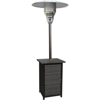 7 ft. 41,000 BTU Stainless Steel Square Propane Patio Heater