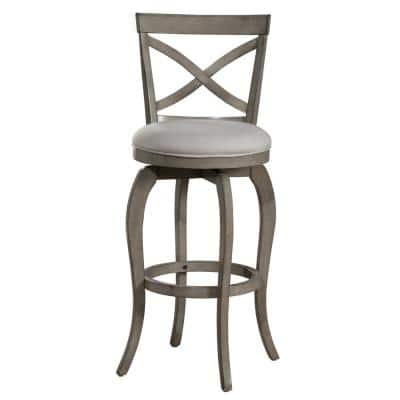 Ellendale 25.25 in. Aged Gray Counter Stool