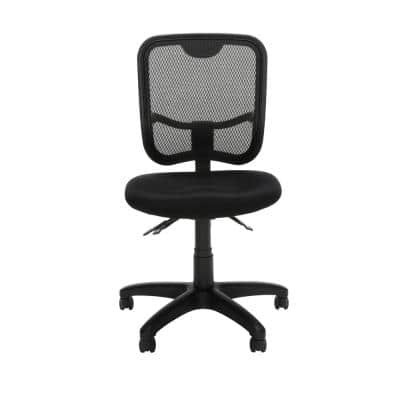 Comfort Series Ergonomic Black Mesh Mid Back Armless Task Chair