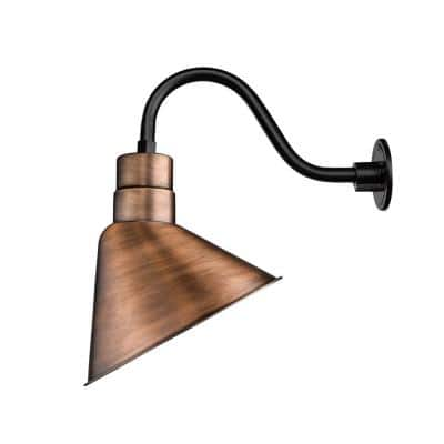 R Series 1-Light 13 in. Natural Copper Angle Shade