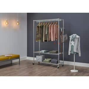 Chrome Steel Clothes Rack 48 in. W x 75.5 in. H